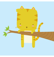 Cat Stuck on a Branch vector image