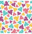 Autumn leaves pattern Hand-drawn seamless pattern vector image