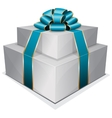 Pile gift box with bow vector image