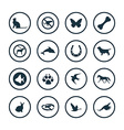 animals pets icons universal set vector image