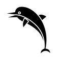 dolphin icon black sign on vector image