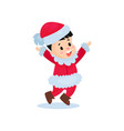 happy little boy in the costume of santa claus vector image