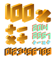 Isometric number vector image