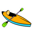 kayak icon icon cartoon vector image