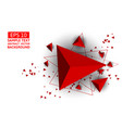 red triangle abstract background with copy space vector image