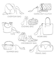 Set of women bags ans shoes vector image
