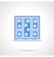Winter window flat color icon vector image