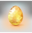 Golden egg from the mosaics pattern triangles vector image