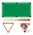 snooker and pool gaming elements isolated on white vector image