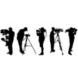 Video cameramen vector image vector image