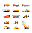 construction vehicles - modern flat design vector image