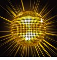 gold mirror ball vector image
