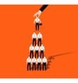 Businessmen promotion to higher position vector image vector image