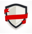 Shield with ribbon vector image