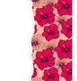 floral pattern with torn paper vector image