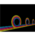 grunge disco background vector image