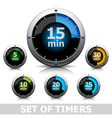 Bright timer vector image