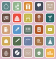 Celebration flat icons on pink background vector image