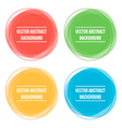 Colorful abstract round frames backgrounds vector image