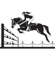 Jockey ride horse vector image