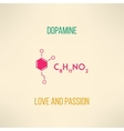 Love and passion chemistry concept Dopamine vector image