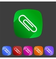 Paperclip badge flat icon sign set symbol vector image
