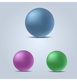 set of colorful spheres vector image
