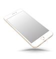 Gold smartphone mockups like iphon vector image