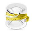 Diet concept vector image