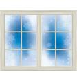 winter window snowflakes vector image