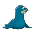 Cartoon sea fur seal character vector image