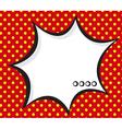speech bubble pop artcomic book background vector image
