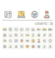 Logistic and distribution color icons vector image