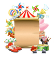 Circus Concept with Poster vector image