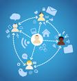 Social Network Diagram vector image vector image