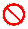 Red no not allowed symbol on white background 2 vector image