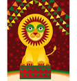 Big lion in the circus vector image