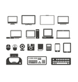 Electronuic equipment icons collection vector image