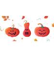 pumpkins halloween vector image