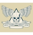 Skull with wings tattoo art design vector image