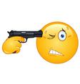 suicide emoticon vector image