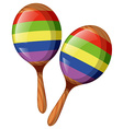 Two shakers in rainbow colors vector image