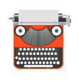 typewriter old vintage writer retro type paper vector image