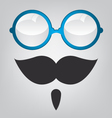 Funny mask blue sunglasses and mustache vector image vector image