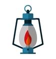 lamp kerosene old lantern camping vector image