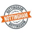 nottingham red round grunge vintage ribbon stamp vector image