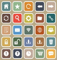 Tool bar flat icons on brown background vector image vector image