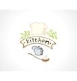 kitchen emblem vector image