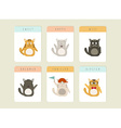 Happy Cat icons set vector image