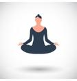 Yoga flat icon vector image vector image